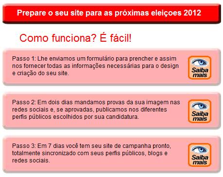 Prepare o seu site para as próximas eleiçoes 2012