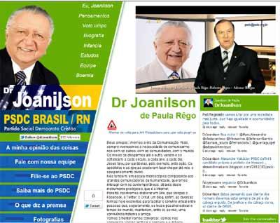 Novo site do Dr Joanilson de Paula Rêgo