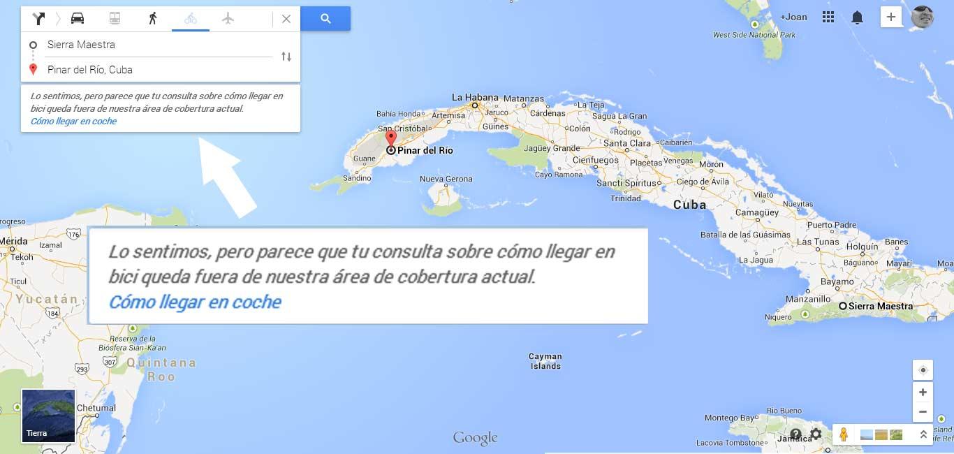 Probando los nuevos perfiles de desnivel del Google Maps.
