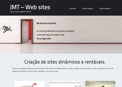 Novo site JMT Criação de sites