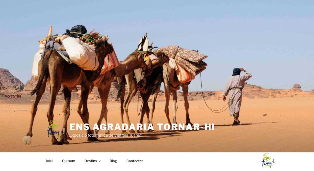 Ensagradariatornar-hi.com exposição fotográfica de Viatges Tuareg