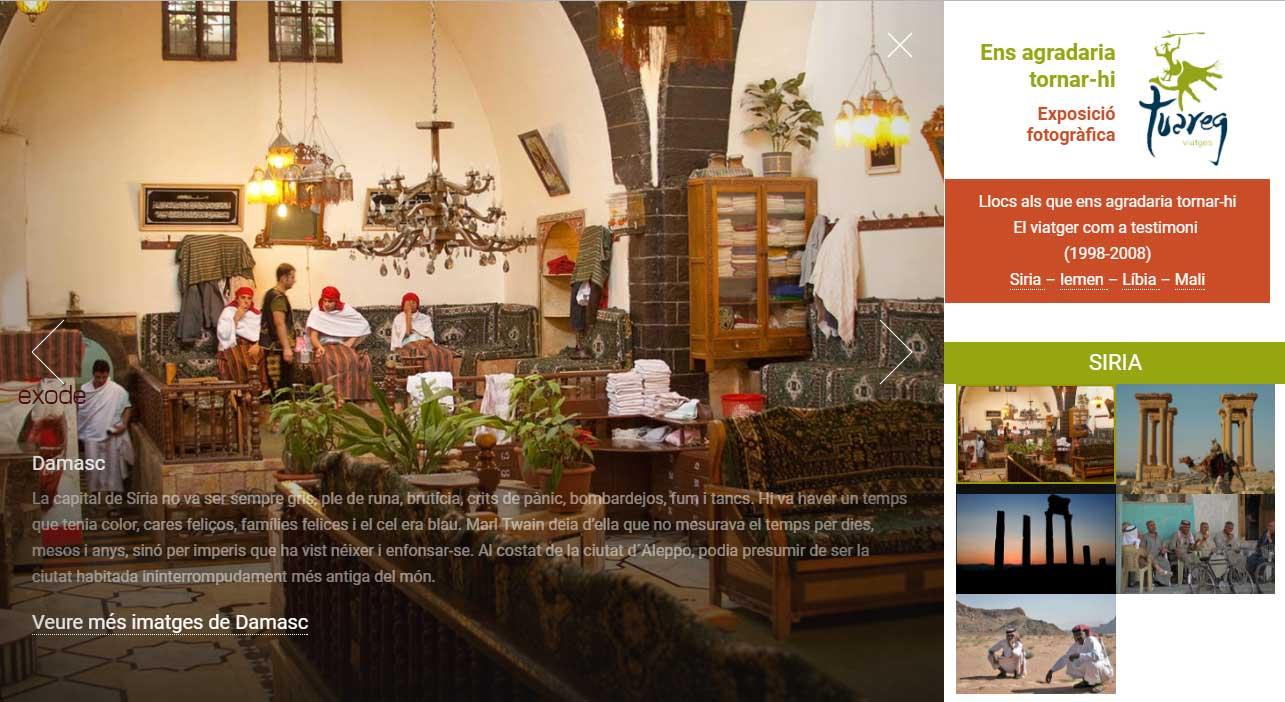 Ensagradariatornar-hi.com exposição fotográfica de Viatges Tuareg. Galeria HTML5